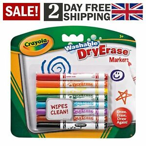 CRAYOLA Dry Erase Washable Dry Erase Markers Wiper Clean Markers