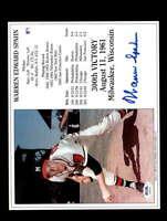 Warren Spahn PSA DNA Coa Hand Signed 8x10 HOF Photo Autograph