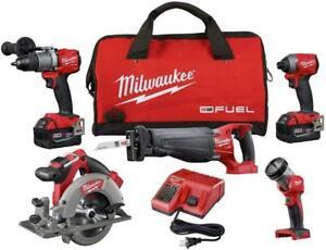 Milwaukee 2997-25 M18 FUEL™ 5 Tool Combo Kit (New)