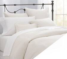 PERCALE WHITE SUPER KING SIZE DUVET QUILT COVER SET PLAIN DYED EASY CARE 180TC