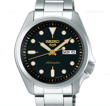 New SEIKO 5 SRPE57K1 Automatic Full Stainless Steel 40mm Black Dial 24 jewels