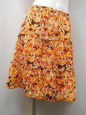 Peasant Skirt Womens Size S AGB Geometric Three Tired Multi Color Elastic Waist