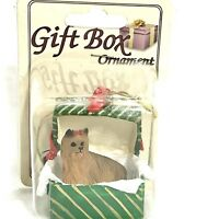 Yorkshire Terrier Ornament Handcrafted Yorkie Dog Gift Box Conversation Concepts