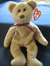 Rare Ty Beanie Babies Baby Curly the Brown Bear 4 mistakes 1993 Retired New MWMT