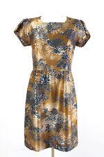 Benetton Kleid Gr. L / 40 A-Linie Cocktailkleid Sommerkleid Satin Dress Robe