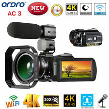 ORDRO AC3 4K WiFi Digital Video Camera Camcorder DV + Lens + Microphone + Holder