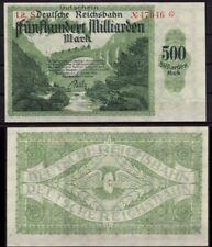 [11446] - NOTGELD KARLSRUHE, RBD Reichsbahndirektion, 500 Mrd Mk, Lit. S, 15.10.