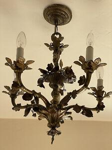 Antique French Bronze Brass Chandelier CHERUBS 2 Available