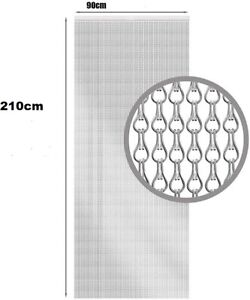 Kettenvorhang Fliegenschutz Tür Vorhang Aluminium Kettenvorhang 210x90cm