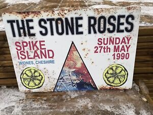 The Stone Roses Spike Island Retro Looking Sign