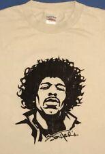 Jimi Hendrix Face Logo Mens Baige T Shirt Size Large