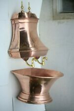 Large VINTAGE COPPER HANDWASH LAVABO WATER FOUNTAIN 37INCH 14.8lbs