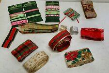 Lot Of Christmas Holiday Ribbon