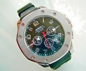 c2010 GENTS KYBOE!  GIANT CHRONOGRAPH 48 100M WRISTWATCH.  WORKING. SUPERB