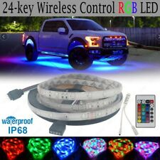 For Chevy Silverado Remote LED Lights Underbody Glow Under Car RGB Neon Accent