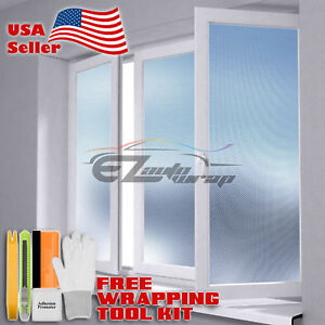 【Frosted Film】 Carbon Fiber Glass Home Bathroom Window Security Privacy