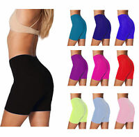 LADIES CYCLING STRETCHY COTTON LYCRA SHORT ACTIVE CASUAL SPORT WOMENS LEGGINGS