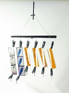 Darkroom film drying hanging rack hanger 35mm 120 12 clip folding USA STOCK