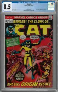 Cat # 1 CGC 8.5 ow/wp Origin & 1st app. of the Cat