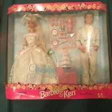 1996 Mattel Special Edition Wedding Fantasy Barbie And Ken Gift Set No. 17243