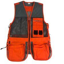 Champion Shooting Gear Mens M/L Hunting Vest Mesh Gray Blaze Orange Pockets