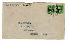 1918 New Zealand Forces in Samoa to New Zealand Censored Cover.