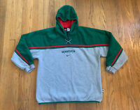 Minnesota Wild Vintage Nike Center Swoosh Hoodie Fits Mens Large EUC Rare NHL