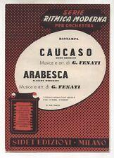 Spartito GIOVANNI FENATI Caucaso - Arabesca 1952 Sheet music