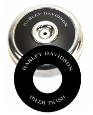 "Harley-Davidson BIKER TRASH 8"" Round Air Cleaner Filter Cover Insert Decal Evo"