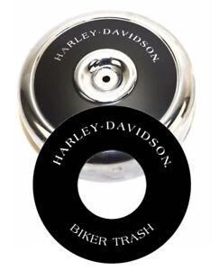 "Harley-Davidson BIKER TRASH 8"" Round Air Cleaner Filter Cover Insert Decal Evo"