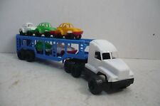 Mexican Porsche Car Carrier Truck - Plastic toy Car - Made In Mexico