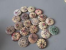 Orologio Misti Bottoni in legno modello x 10 per cucito/artigianato/Scrapbooking/Steampunk