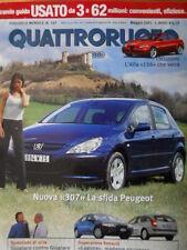 Quattroruote 547 2001 - ALFA 156 che verrà - Sfida Peugeot 307 -    [Q35]