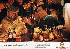 PUBLICITE  1985   GEORGE KILLIAN'S   bière rousse  (2 pages)