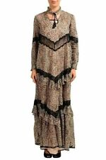 Just Cavalli Multi-Color Long Sleeve Women's Maxi Shift Dress US S IT 40