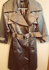 *bebe ULTRA SHEEN 'KHAKI TAN BEIGE' TRENCH COAT / X-SMALL / PERFECT CONDITION!