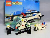 LEGO 6664 Polizei Hubschrauber Motorrad chopper cops police heli kompl + BA #7