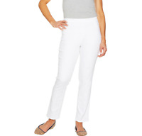 C. Wonder Petite Stretch Denim Pull-On Ankle Jeans White Color Size 8