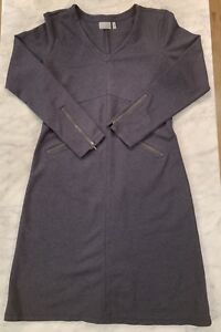 ATHLETA Celebration Dress, EUC, Size Large, Blue Heather, Hard to Find Style!