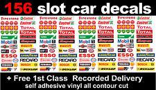 156 Slot car, Scalextric Barrier Logo stickers adhesive vinyl Model Race Lego 16