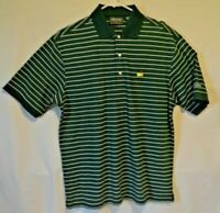 Masters Collection 60's Two Ply Mercerized Golf Polo Shirt Striped Mens Medium