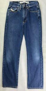 DIESEL INDUSTRY Mens Jeans W26 L29 Blue Straight Fit Regular Denim