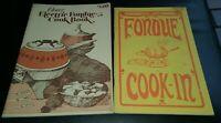 2 Vintage Oster Fondue Pot Cookbooks Instruction Manuals Guides