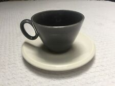 Vintage Homer Laughlin Epicure Black & White Coffee Cup Set.