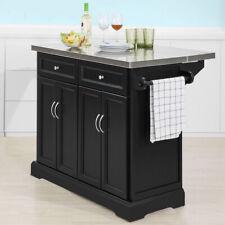 SoBuy®  Extendable Kitchen Trolley Island Storage Cupboard Black,FKW71-SCH UK