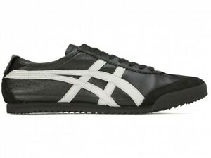 Asics Onitsuka Tiger MEXICO 66 DELUXE 1181A435 BLACK/WHITE With Shoe Bag