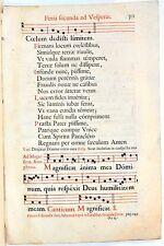 Stampa antica ANTIFONARIO SALTERIO MUSICA CANTO GREGORIANO F.301 1663 Old print