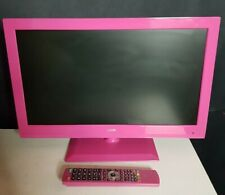 """Logik 22""""inch LED HD Pink TV with In-built DVD Player and Remote 12v Camper"""