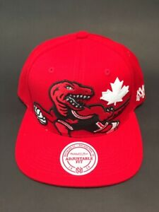Toronto Raptors Red Canada Day Snapback hat by Mitchell & Ness