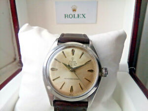 BEAUTIFUL GENTS 1960 ROLEX TUDOR OYSTER ROYAL WATCH, SERVICED AND BOXED